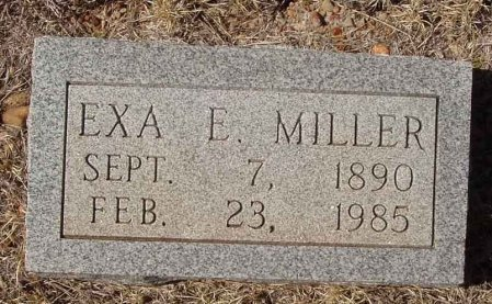 MILLER, EXA E. - Callahan County, Texas | EXA E. MILLER - Texas Gravestone Photos