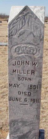 MILLER, JOHN W. - Callahan County, Texas | JOHN W. MILLER - Texas Gravestone Photos