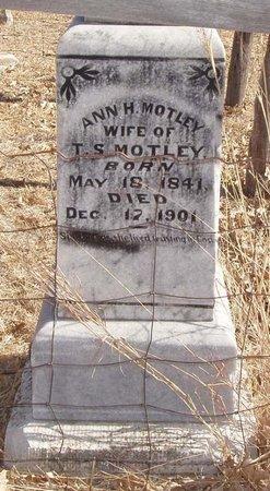 MOTLEY, ANN H. - Callahan County, Texas | ANN H. MOTLEY - Texas Gravestone Photos