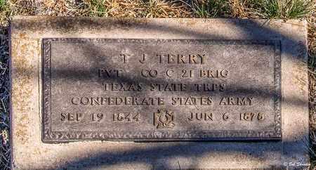 TERRY (VETERAN CSA), T J - Callahan County, Texas | T J TERRY (VETERAN CSA) - Texas Gravestone Photos