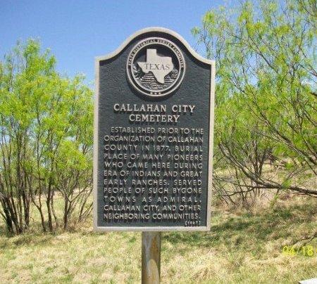 *TEXAS HISTORIC SIGN,  - Callahan County, Texas |  *TEXAS HISTORIC SIGN - Texas Gravestone Photos