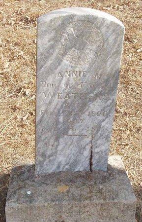 WEATHERS, ANNIE M. - Callahan County, Texas | ANNIE M. WEATHERS - Texas Gravestone Photos