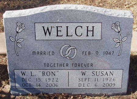 WELCH, W. SUSAN - Callahan County, Texas | W. SUSAN WELCH - Texas Gravestone Photos