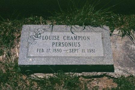 PERSONIUS, MARY LOUISE - Cameron County, Texas   MARY LOUISE PERSONIUS - Texas Gravestone Photos