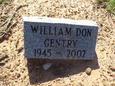 GENTRY, WILLIAM DON - Camp County, Texas | WILLIAM DON GENTRY - Texas Gravestone Photos