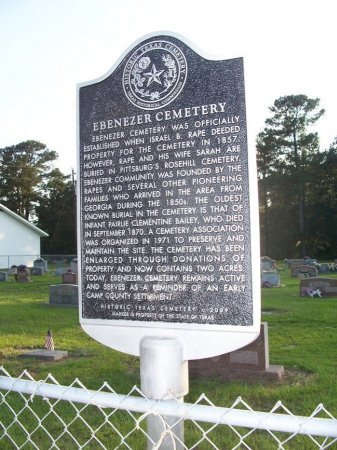 *HISTORIC CEMETERY SIGN,  - Camp County, Texas |  *HISTORIC CEMETERY SIGN - Texas Gravestone Photos