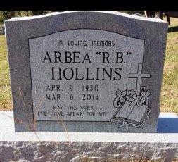 "HOLLINS, ARBEA ""R B"" - Camp County, Texas | ARBEA ""R B"" HOLLINS - Texas Gravestone Photos"