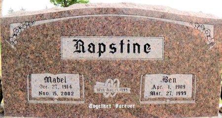 RAPSTINE, BEN - Carson County, Texas | BEN RAPSTINE - Texas Gravestone Photos