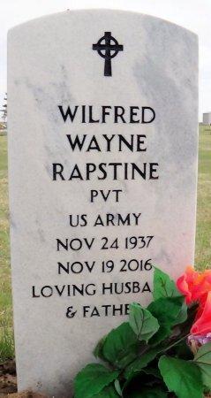 RAPSTINE (VETEAN), WILFRED WAYNE - Carson County, Texas | WILFRED WAYNE RAPSTINE (VETEAN) - Texas Gravestone Photos