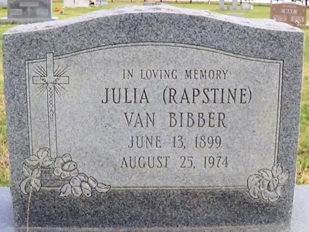 RAPSTINE VAN BIBBER, JULIA - Carson County, Texas | JULIA RAPSTINE VAN BIBBER - Texas Gravestone Photos