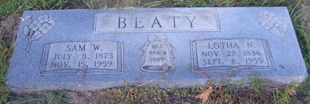 BEATY, LOTHA N - Cass County, Texas | LOTHA N BEATY - Texas Gravestone Photos