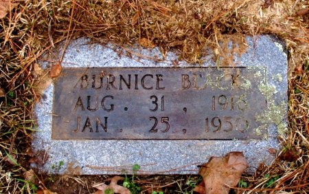 BLACK, BURNICE  - Cass County, Texas   BURNICE  BLACK - Texas Gravestone Photos