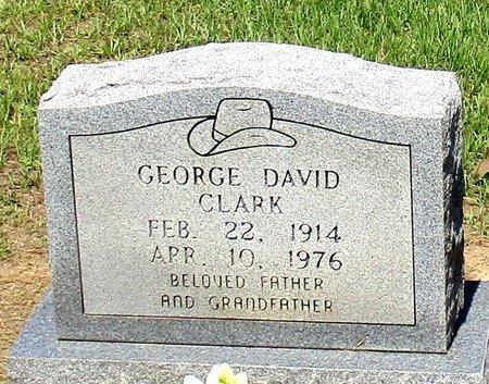 CLARK, GEORGE DAVID - Cass County, Texas | GEORGE DAVID CLARK - Texas Gravestone Photos