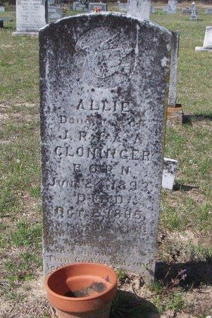 CLONINGER, ALLIE - Cass County, Texas | ALLIE CLONINGER - Texas Gravestone Photos