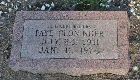 CLONINGER, FAYE - Cass County, Texas | FAYE CLONINGER - Texas Gravestone Photos