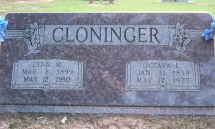 BURNS CLONINGER, OCTAVA L - Cass County, Texas | OCTAVA L BURNS CLONINGER - Texas Gravestone Photos