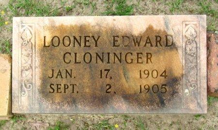 CLONINGER, LOONEY EDWARD - Cass County, Texas | LOONEY EDWARD CLONINGER - Texas Gravestone Photos