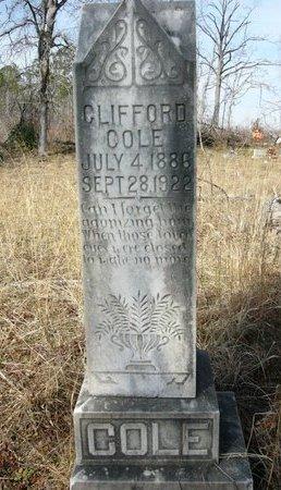 COLE, CLIFFORD - Cass County, Texas | CLIFFORD COLE - Texas Gravestone Photos
