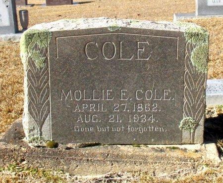 COLE, MOLLIE E. - Cass County, Texas   MOLLIE E. COLE - Texas Gravestone Photos