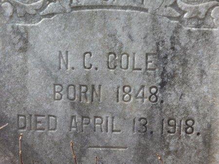 COLE, N C (CLOSEUP) - Cass County, Texas | N C (CLOSEUP) COLE - Texas Gravestone Photos