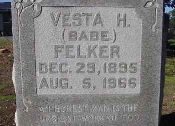 FELKER, VESTA H - Cass County, Texas | VESTA H FELKER - Texas Gravestone Photos