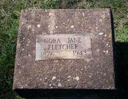 FLETCHER, NORA JANE - Cass County, Texas | NORA JANE FLETCHER - Texas Gravestone Photos