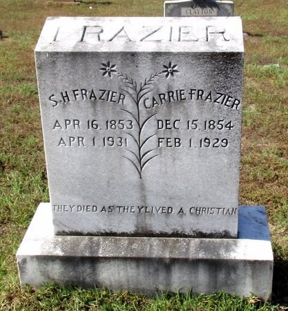 FRAZIER, S. H. - Cass County, Texas | S. H. FRAZIER - Texas Gravestone Photos