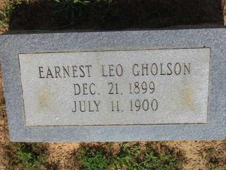 GHOLSON, EARNEST LEO - Cass County, Texas | EARNEST LEO GHOLSON - Texas Gravestone Photos