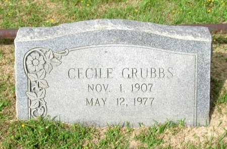 GRUBBS, CECILE - Cass County, Texas | CECILE GRUBBS - Texas Gravestone Photos