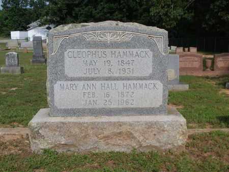 HAMMACK, MARY ANN - Cass County, Texas   MARY ANN HAMMACK - Texas Gravestone Photos