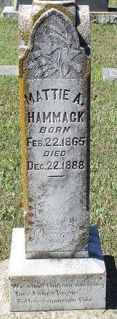 HAMMACK, MATTIE A - Cass County, Texas | MATTIE A HAMMACK - Texas Gravestone Photos