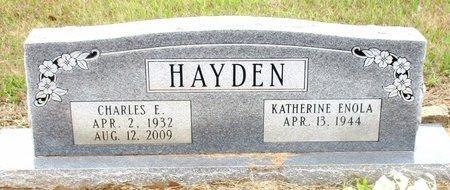 HAYDEN, CHARLES E. - Cass County, Texas | CHARLES E. HAYDEN - Texas Gravestone Photos