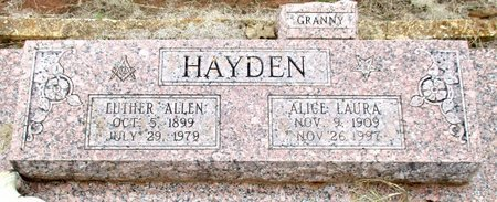 HAYDEN, LUTHER ALLEN - Cass County, Texas | LUTHER ALLEN HAYDEN - Texas Gravestone Photos