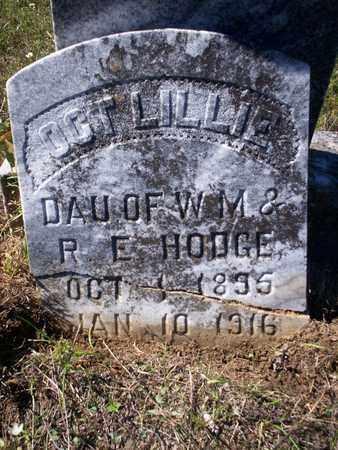 HODGE, OCT LILLIE - Cass County, Texas | OCT LILLIE HODGE - Texas Gravestone Photos