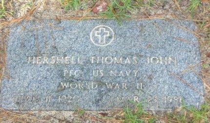 JOHN (VETERAN WWII), HERSHELL THOMAS - Cass County, Texas | HERSHELL THOMAS JOHN (VETERAN WWII) - Texas Gravestone Photos