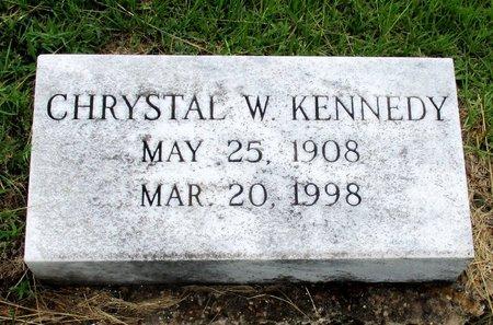 KENNEDY, CHRYSTAL W. - Cass County, Texas | CHRYSTAL W. KENNEDY - Texas Gravestone Photos