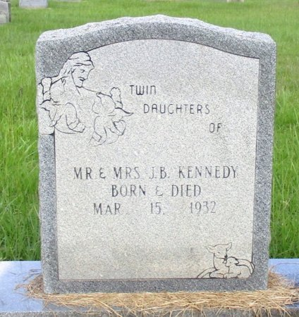 KENNEDY, INFANT TWIN DAUGHTERS - Cass County, Texas | INFANT TWIN DAUGHTERS KENNEDY - Texas Gravestone Photos