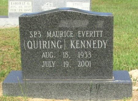 "KENNEDY, MAURICE EVERITT ""QUIRING"" - Cass County, Texas 