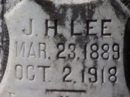 LEE, J H (CLOSE UP) - Cass County, Texas   J H (CLOSE UP) LEE - Texas Gravestone Photos