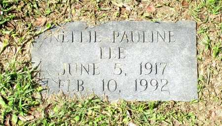 LEE, NELLIE PAULINE (FOOTSTONE) - Cass County, Texas | NELLIE PAULINE (FOOTSTONE) LEE - Texas Gravestone Photos