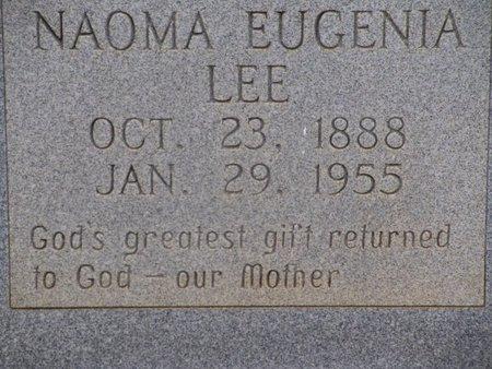 LEE, NAOMA EUGENIA (CLOSEUP) - Cass County, Texas | NAOMA EUGENIA (CLOSEUP) LEE - Texas Gravestone Photos