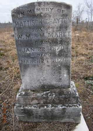 MARET, MATTISON GRAYTON - Cass County, Texas | MATTISON GRAYTON MARET - Texas Gravestone Photos