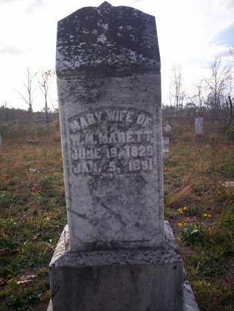 MARETT, MARY - Cass County, Texas | MARY MARETT - Texas Gravestone Photos