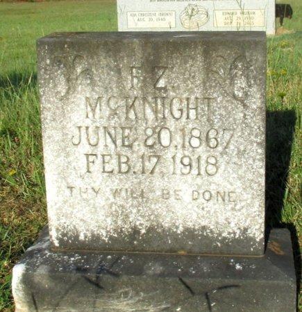 MCKNIGHT, F. Z. - Cass County, Texas | F. Z. MCKNIGHT - Texas Gravestone Photos
