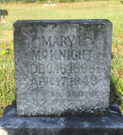 MCKNIGHT, MARY E. - Cass County, Texas | MARY E. MCKNIGHT - Texas Gravestone Photos
