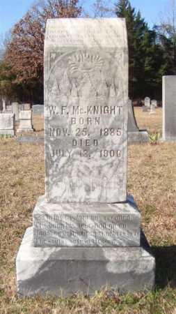 MCKNIGHT, W. F. - Cass County, Texas | W. F. MCKNIGHT - Texas Gravestone Photos
