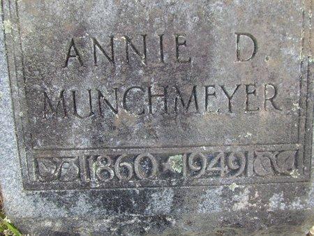 CARTER MUNCHMEYER, ANNIE D (CLOSEUP) - Cass County, Texas | ANNIE D (CLOSEUP) CARTER MUNCHMEYER - Texas Gravestone Photos