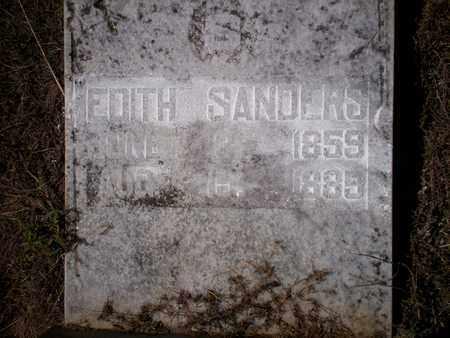 SANDERS, EDITH - Cass County, Texas | EDITH SANDERS - Texas Gravestone Photos