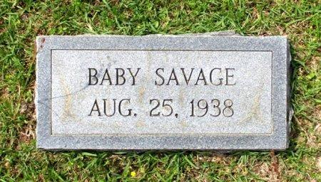 SAVAGE, BABY - Cass County, Texas | BABY SAVAGE - Texas Gravestone Photos