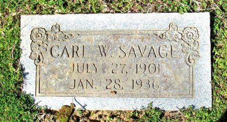 SAVAGE, CARL W. - Cass County, Texas | CARL W. SAVAGE - Texas Gravestone Photos